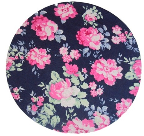 Kit 8 Capa Para Sousplat Floral azul marinho/rosa  - Helô Reis Store