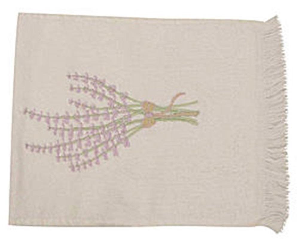 Toalha de Mão Aveludada Lavanda branco/lilas  - Helô Reis