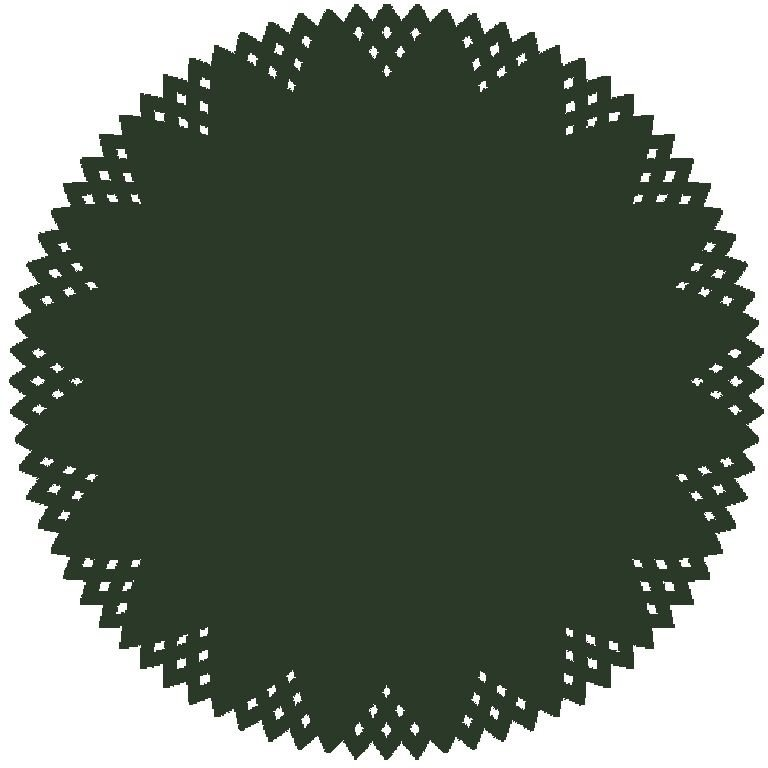 Kit 6 Sousplat de Papel Luxo - Pine Verde   - Helô Reis
