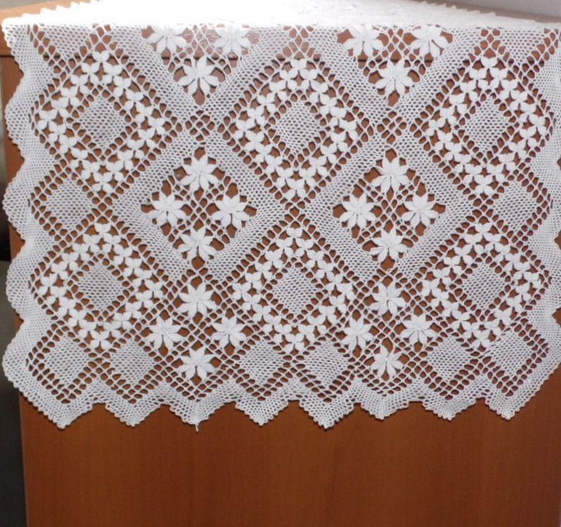 Caminho de Mesa Renda Bilro Spring branco  - Helô Reis Store