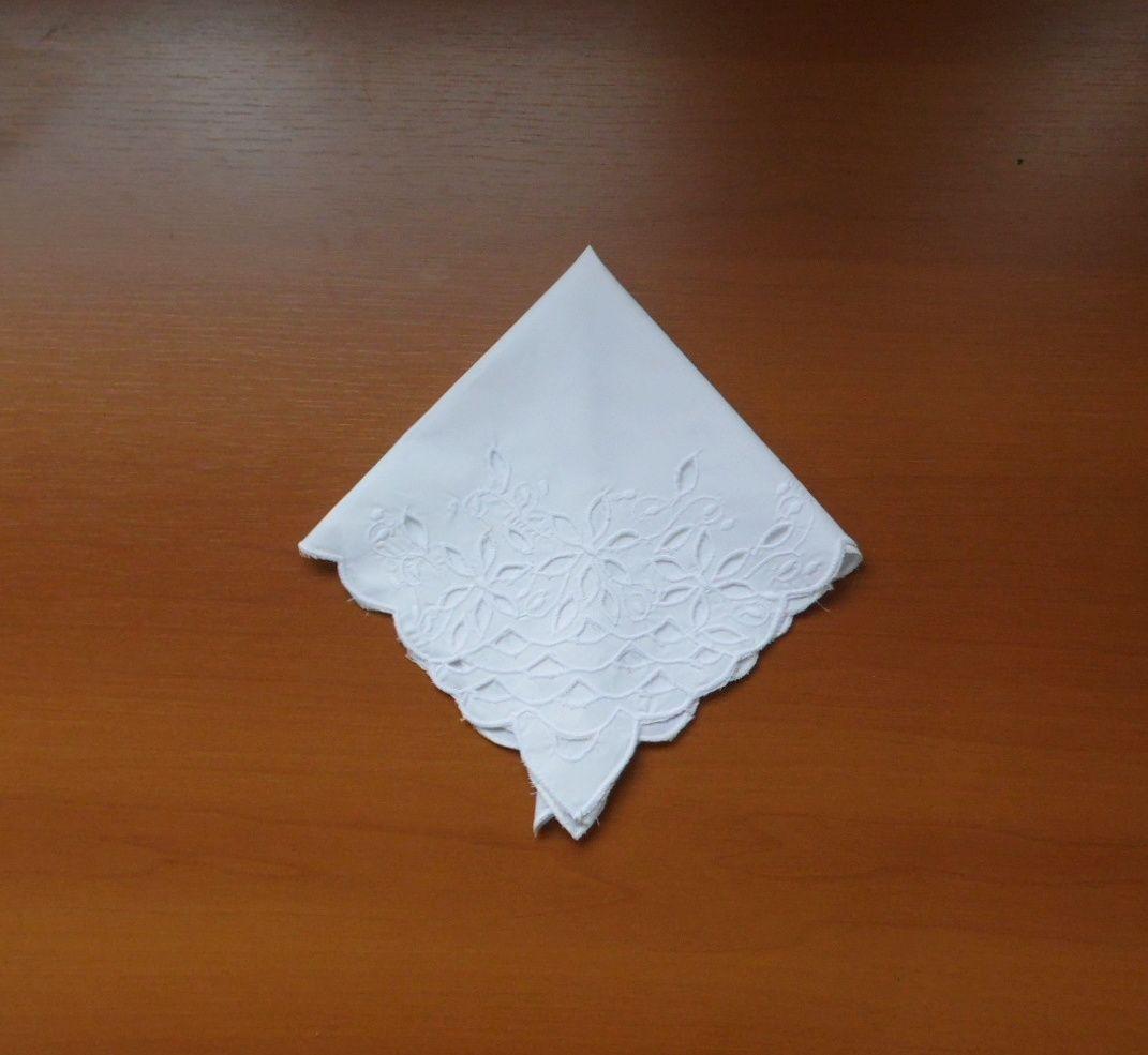 Guardanapo de Percal Richelieu Escama Branco Kit Com 12  - Helô Reis Store