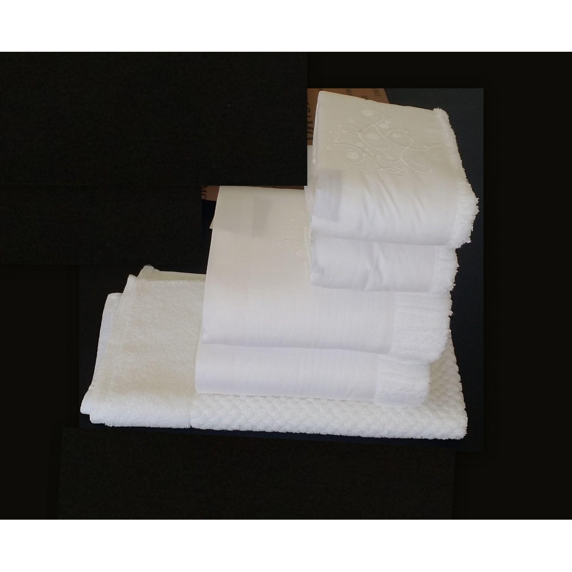 Jogo de Banho 5 peças Arbóreo branco  - Helô Reis Store