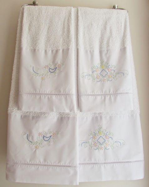 Jogo de Banho 5 peças Crivo branco/ colorido  - Helô Reis Store