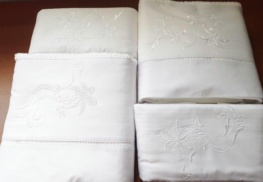 Jogo de Banho 5 peças Lírio branco  - Helô Reis Store