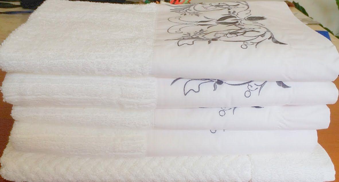 Jogo de Banho 5 peças Ságua branco/ cinza escuro  - Helô Reis Store