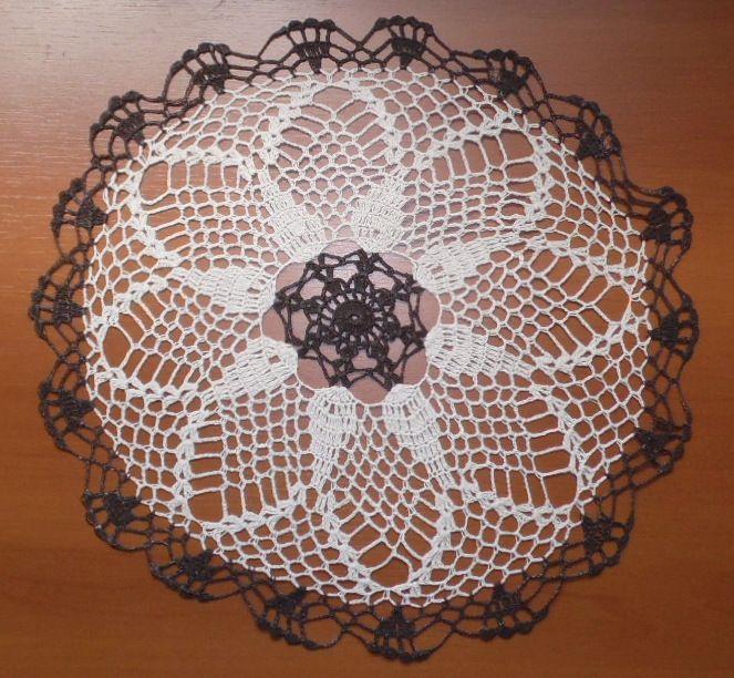 Sousplat Crochet Evolution Bege/Marrom Kit Com 10  - Helô Reis Store
