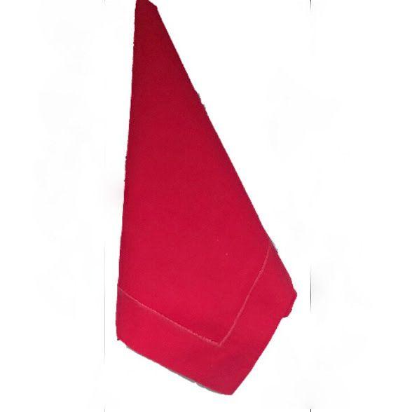 Guardanapo Percal Festonê vermelho 50x50 Kit Com 12  - Helô Reis Store