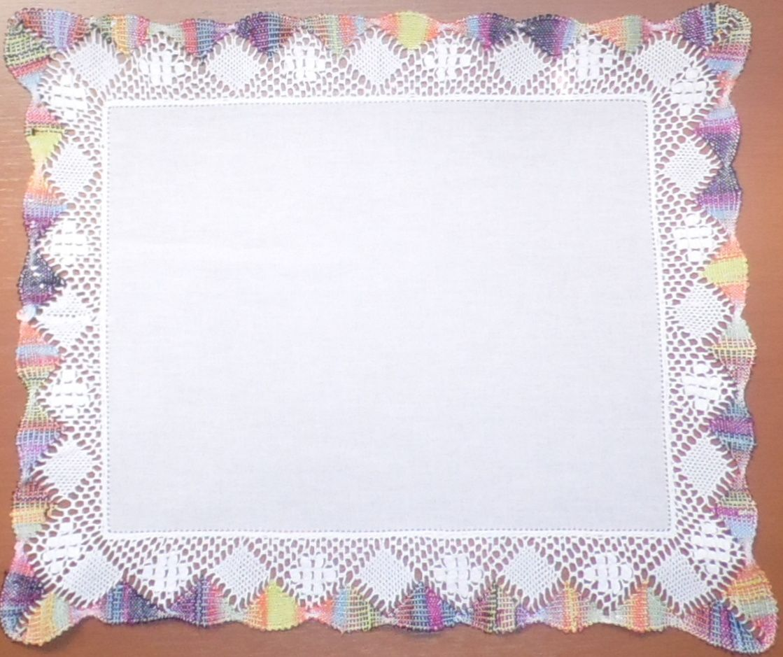 Jogo Americano de Linho branco/colorido Renda Bilro Kit com 12  - Helô Reis Store