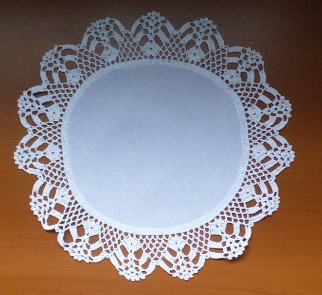 Sousplat Linho Com Crochet Branco Kit Com 12  - Helô Reis Store