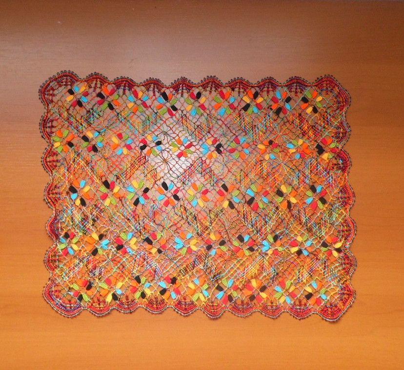 Jogo Americano Renda Bilro Colorido Kit com 4   - Helô Reis Store