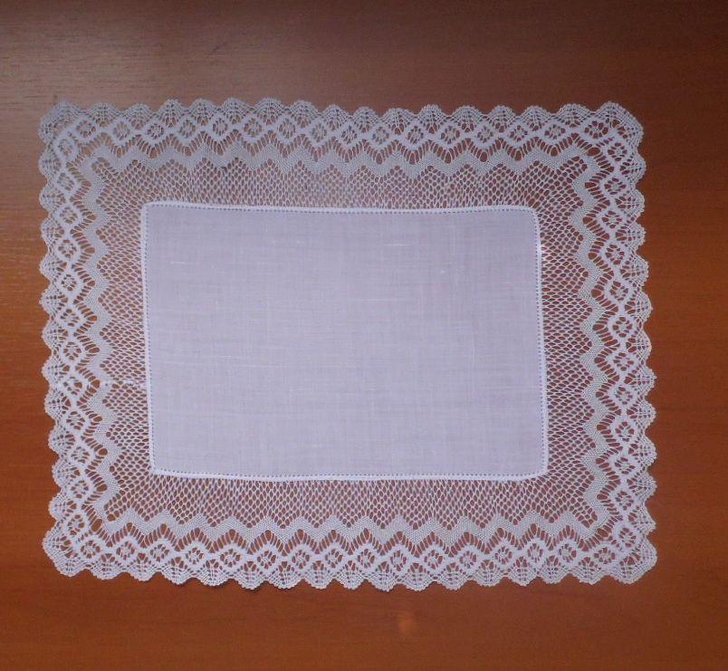 Jogo Americano + Porta Copo Royal Branco Cambraia de Linho Renda Bilro Kit Com 6  - Helô Reis Store