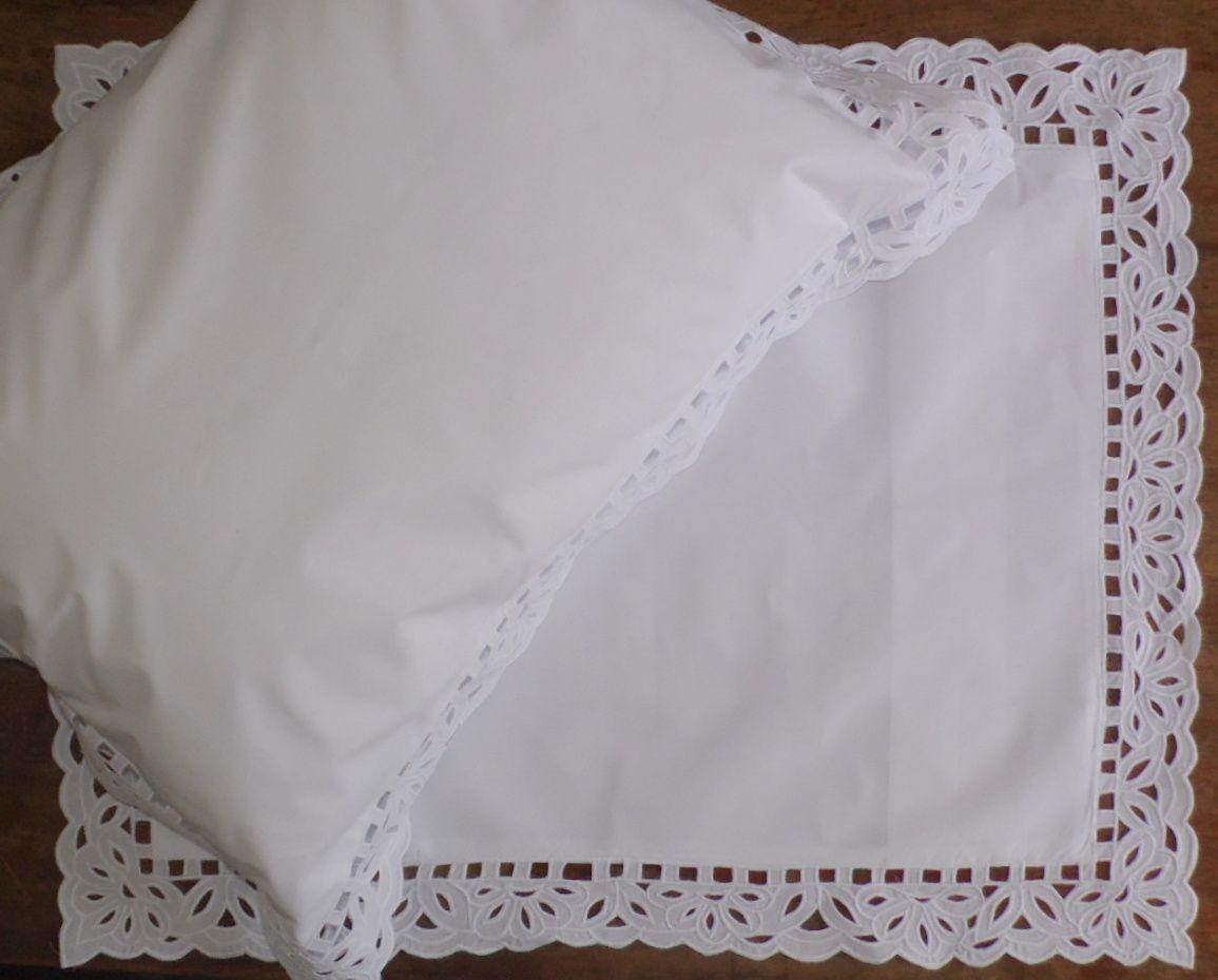 Par de Fronhas Aurora Lisa branco  - Helô Reis Store