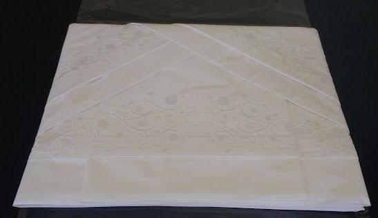 Roupa de Cama 250 fios Arbóreo branco  - Helô Reis Store