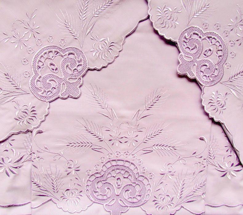 Roupa de Cama 250 fios Festonê Trigo lilás  - Helô Reis Store