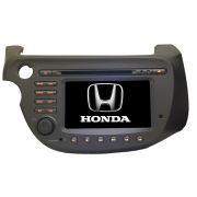 Central Multimidia Honda Fit 2009 a 2013 GPS TV Digital PhoneLink