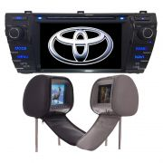 Central Multimidia Corolla Upper 2015 2016 2017 GPS TV Digital + 2 Encosto de Cabeça