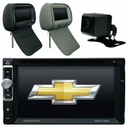 Central Multimidia Cobalt 2012 13 14 15 16 17 GPS TV Camera  Usb Sd card Espelhamento + 1 Encosto