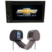 Central Multimidia Onix LT 2012 a 2017 GPS TV + 2 encostos