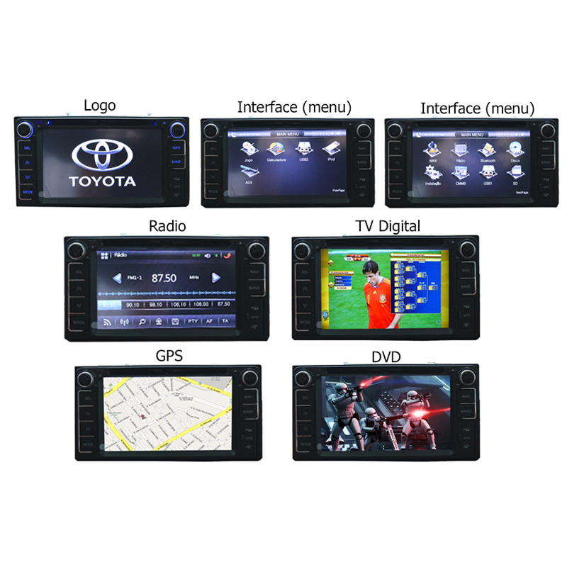 Central Multimidia Toyota Corolla Gli 2015 2016 2017 2018 Tv Digital Gps  - MARGI PARTS