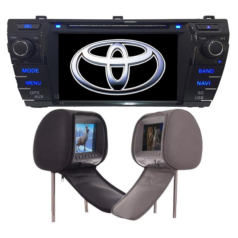 Central Multimidia Corolla Upper 2015 2016 2017 GPS TV Camera + 2 Encosto de Cabeça  - MARGI PARTS