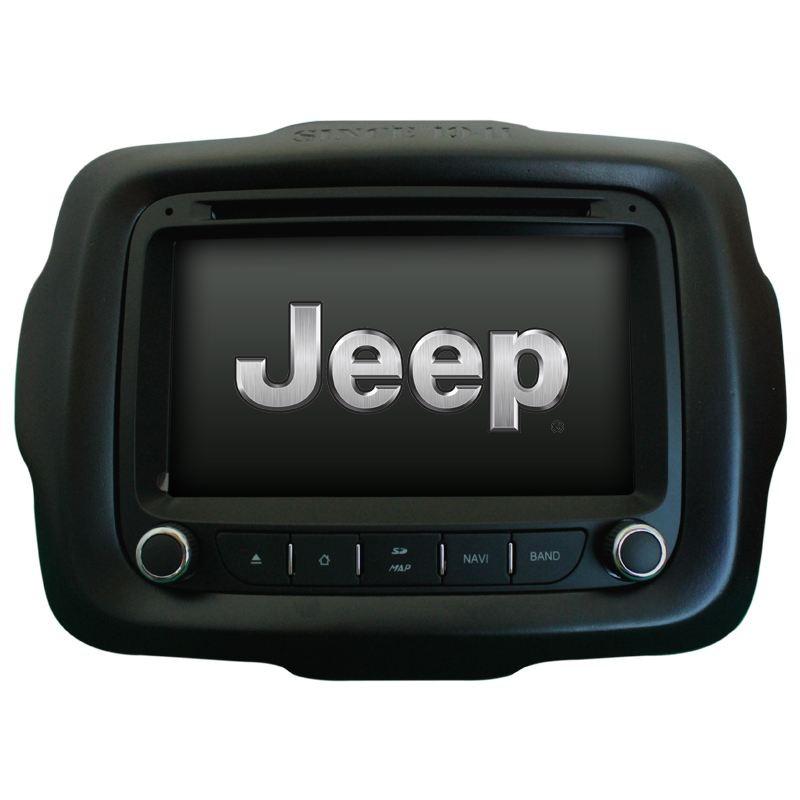 Central Multimidia Jeep Renegade basico  PCD Tv Gps Usb Sd Camera Espelhamento   - MARGI PARTS
