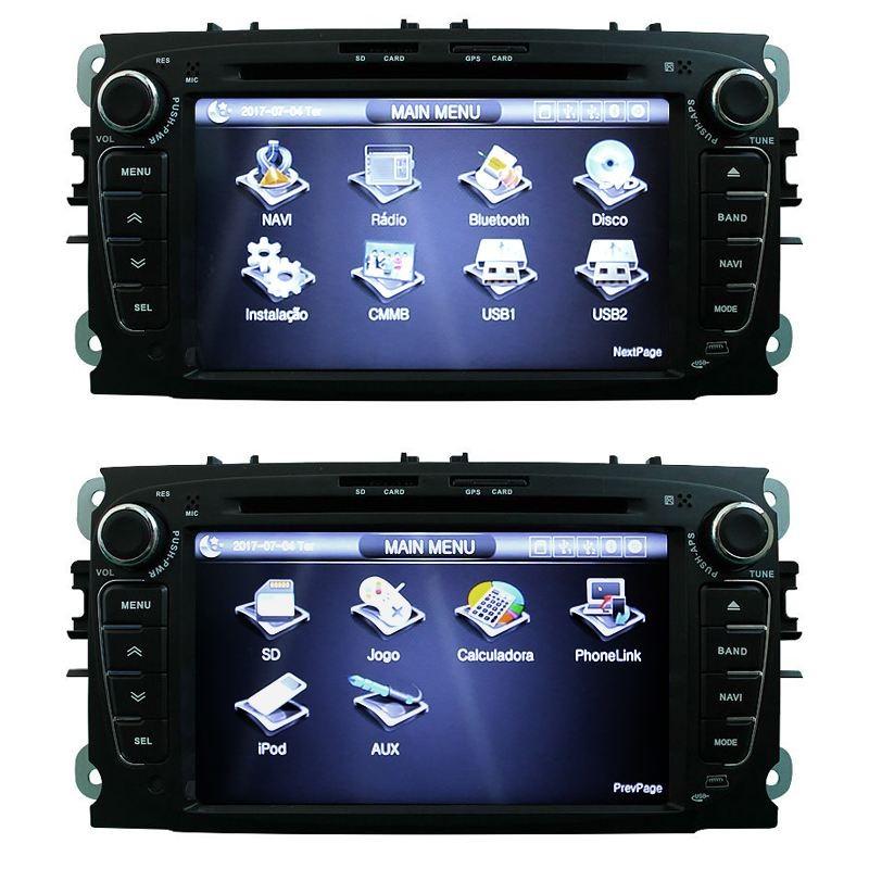 Central Multimidia Ford Focus 2008 09 10 11 12 Tv Gps Camera Usb BT Espelhamento Sd Card  - MARGI PARTS