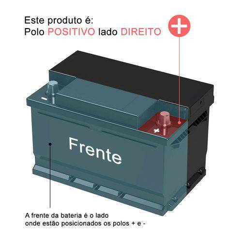 Bateria Moura 60ah - M60gd - Original De Montadora - Positivo Direito  - MARGI PARTS