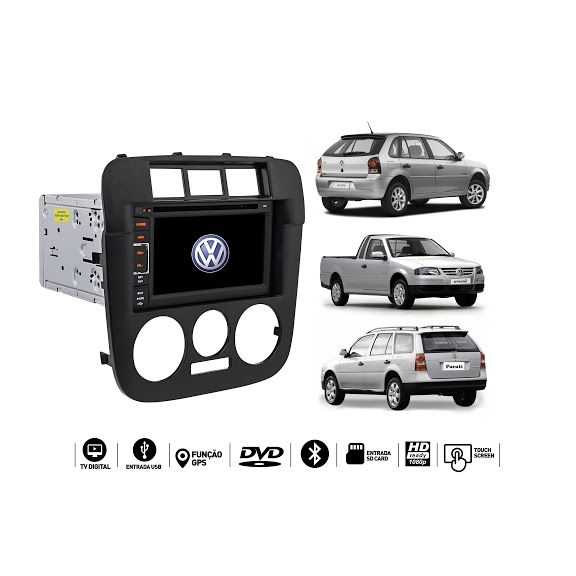 Central Multimidia Gol Parati Saveiro G4 GPS TV USB SD ESPELHAMENTO CAMERA  - MARGI PARTS