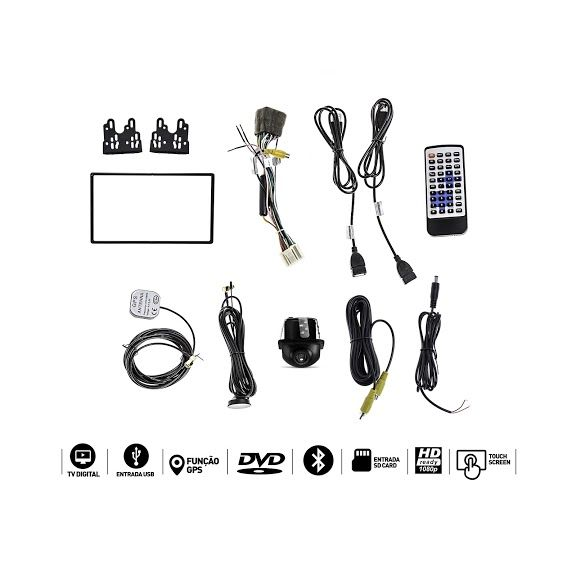 Central Multimidia Saveiro G4 GPS TV USB SD ESPELHAMENTO CAMERA  - MARGI PARTS