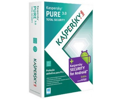 Kaspersky Pure Total Security - 3 usuários, 1 ano - Português - Hope Tech Telecomunicações