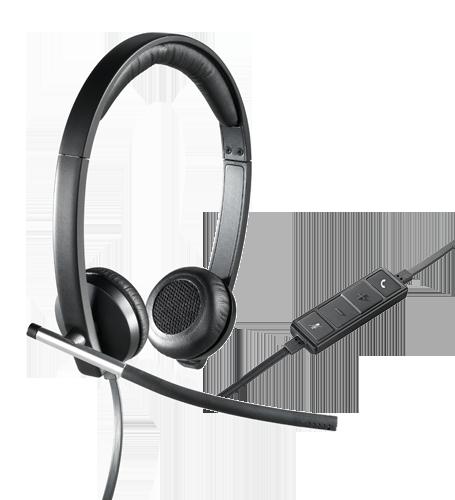 logitech USB Headset Stereo h650e - Hope Tech Telecomunicações