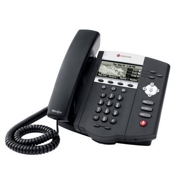 Aparelho de Telefone IP 450 SIP, PoE, 3 Linhas, HD Voice Polycom - Hope Tech Telecomunicações