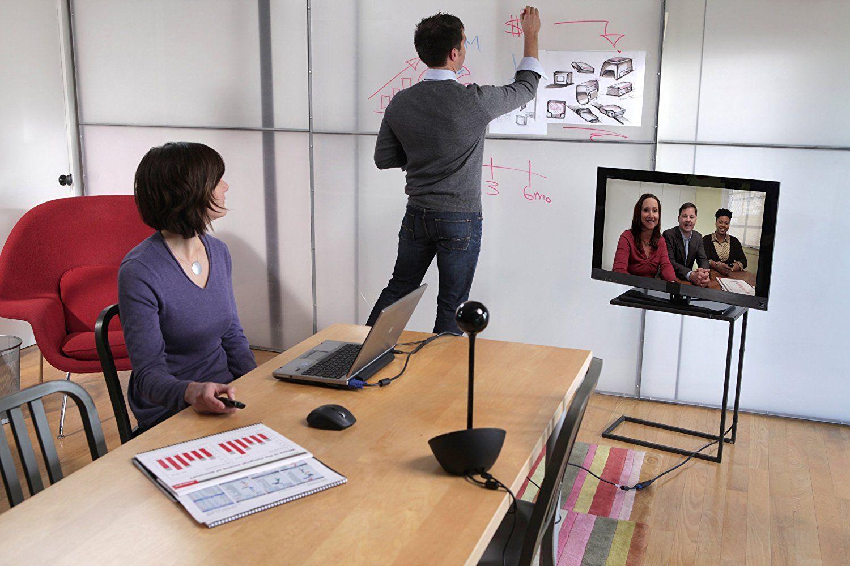 VIDEOCONFERENCIA LOGITECH BCC950 -USB - PRETO - Hope Tech Telecomunicações