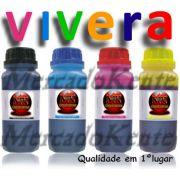 Jogo 4 frasco 100ml de cada cor, tintas Impres. HP. Vivera impressões um aspecto real, nítido e vivo, cores fortes torna sua utilização uma verdadeira obra prima. - Market-Ink Plotter & InkJet