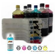 kit Max Combo 6 Cartuchos Recarregaveis + 6 Litros de Tinta p/ Plotters HP T610, T770, T790,T1100, T1200, T1300, T2300 + BRINDE: 100 fluido limpeza + Manual, videos, fotos, dicas.... - Market-Ink Plotter & InkJet