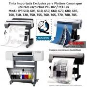 Tinta 500ml Plotters Canon IPF Serie 500, 600, 700, que utilizam cartuchos cod.PFI102 e PF107 - Market-Ink Plotter & InkJet