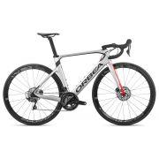 Bicicleta estrada Orbea Orca AERO M20 TEAM-D Tam 55 Prata/Verm - 2020