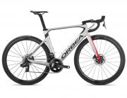 Bicicleta estrada Orbea Orca AERO M21e TEAM-D Tam 55 Prata/Verm - 2020
