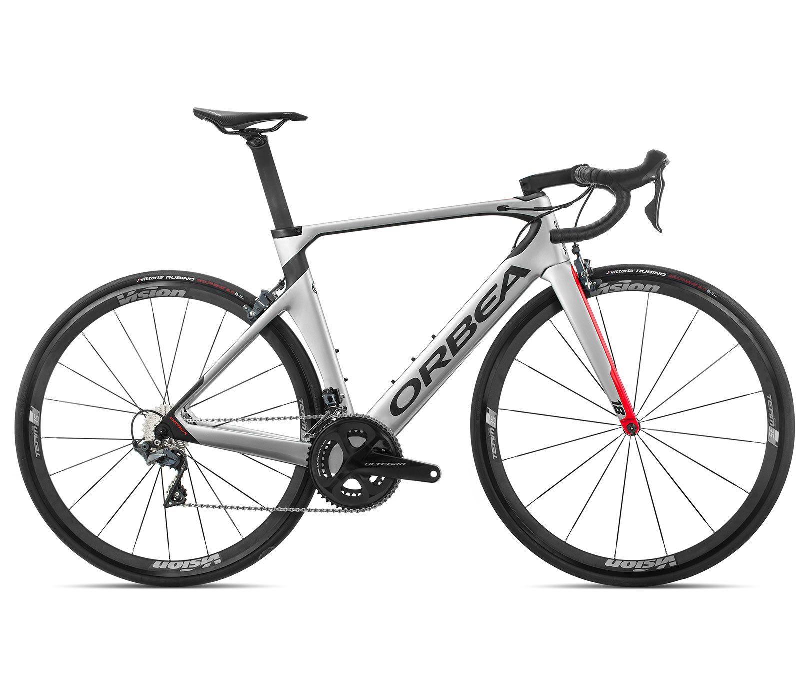 Bicicleta estrada Orbea Orca AERO M20 TEAM Tam 51 Prata/Verm - 2020