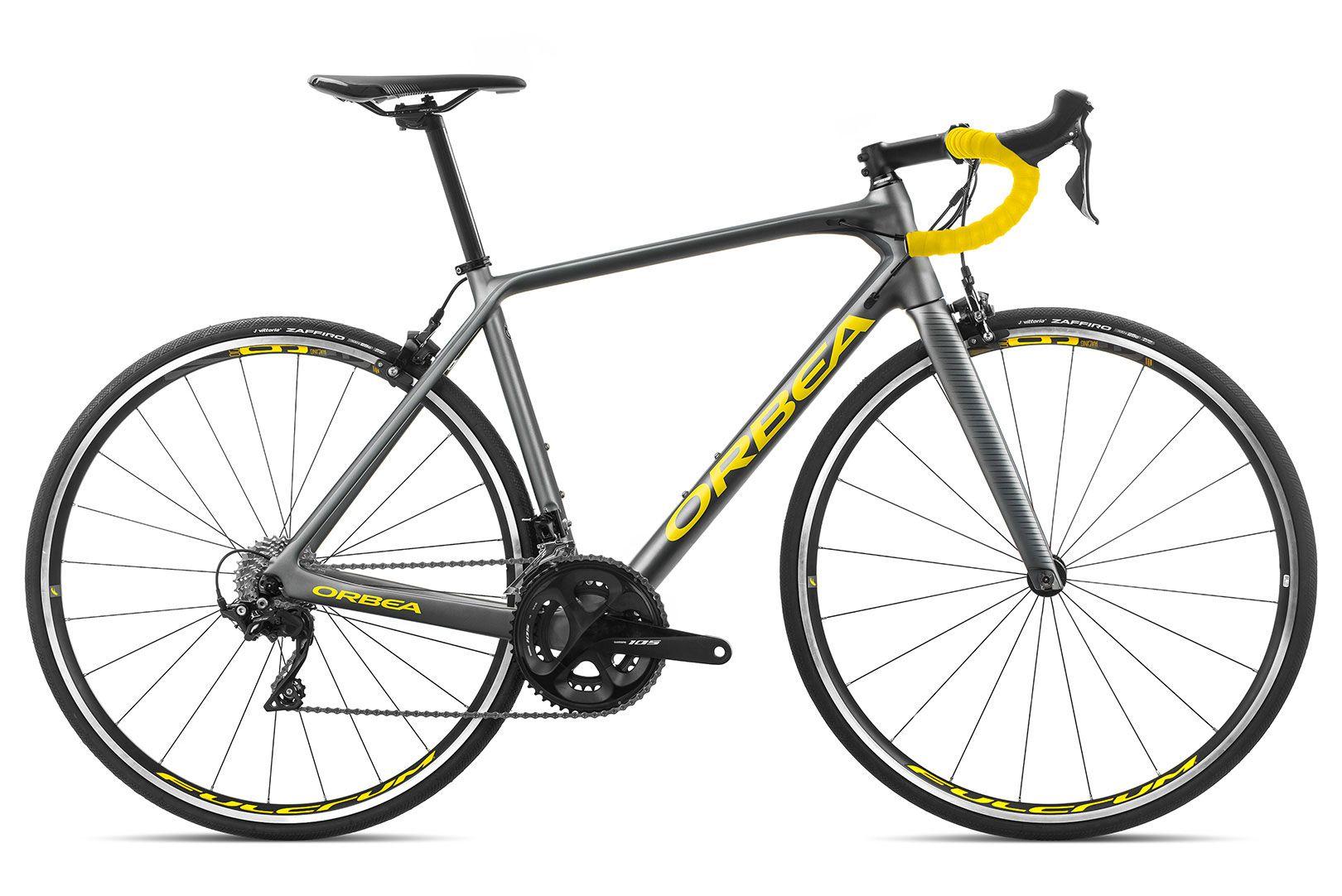 Bicicleta estrada Orbea Orca M30 Tam 55 Grafite/Amarelo - 2020