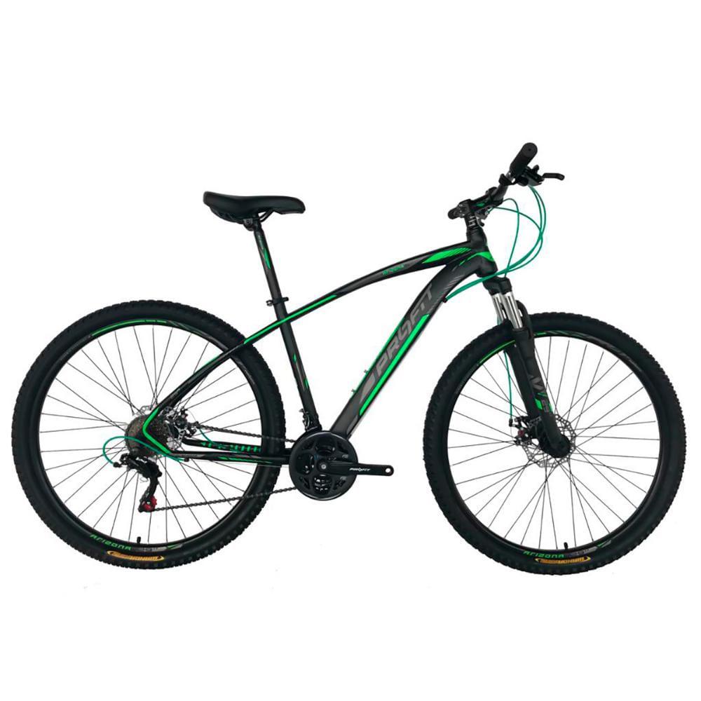 Bicicleta MTB Profit ARIZONA MAX HL 29 V8 - Tam M - Preta/Verde 2021