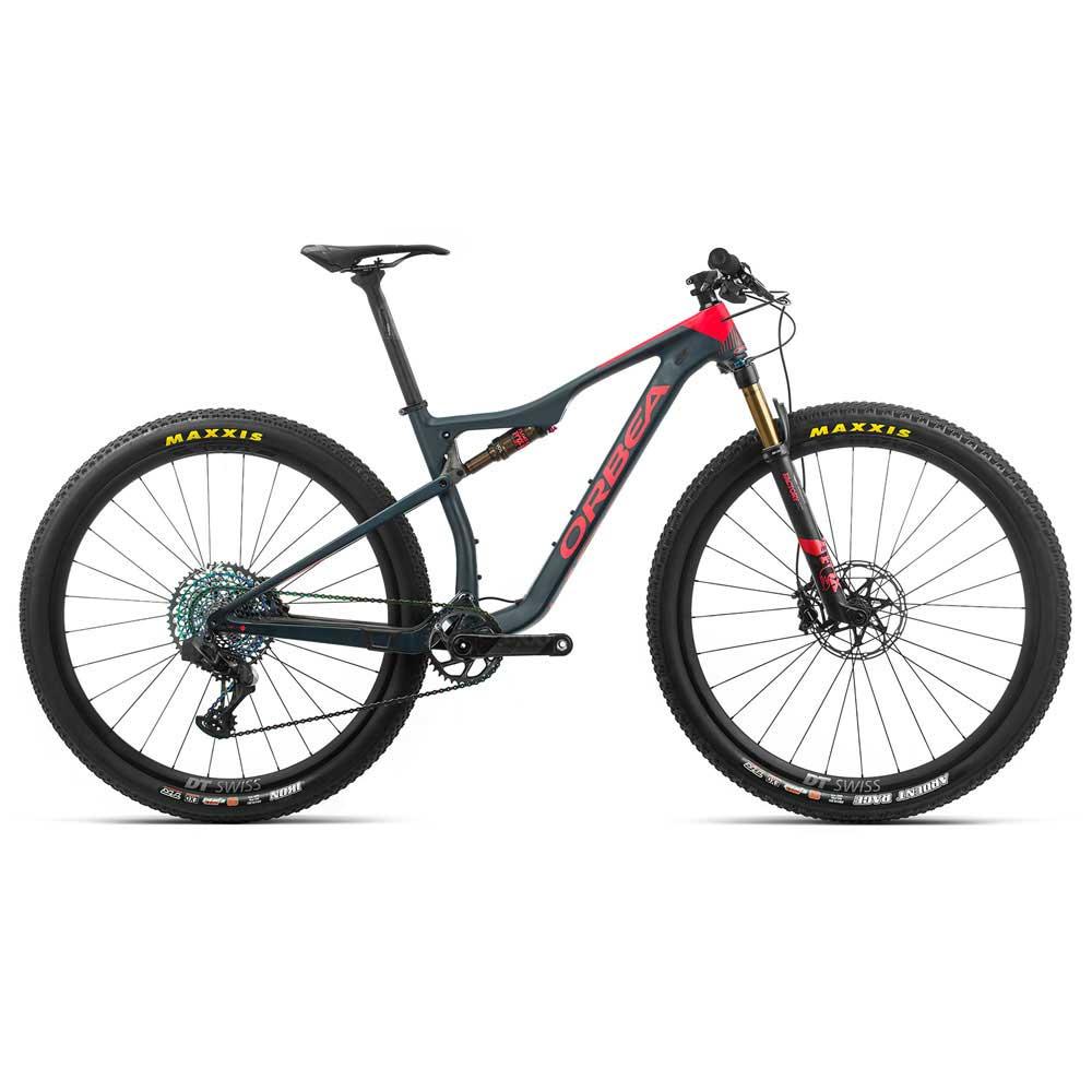 Bicicleta Orbea MTB OIZ M-LTD, tamanho L, cor azul/vermelha - 2020