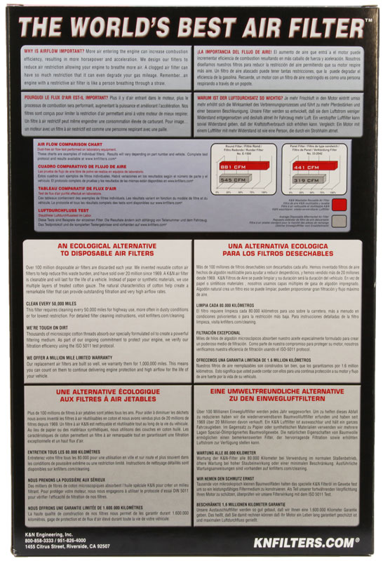 Filtro de ar K&N CBR1000RR 2008 até 2016  - T & T Soluções