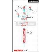 Kit parafuso regulagem do cabo de acelerador