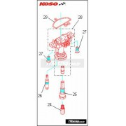 Kit parafuso de fixação da base de gicleurs KOSO