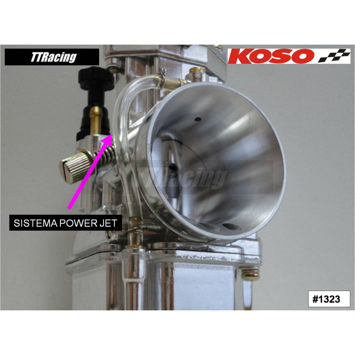Carburador KOSO 32mm com Power Jet - T & T Soluções