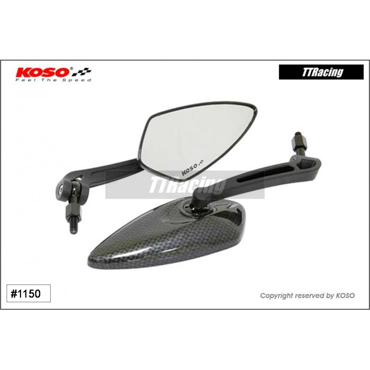 Espelho retrovisor KOSO BLADE M10 LENTE CLARA  - T & T Soluções