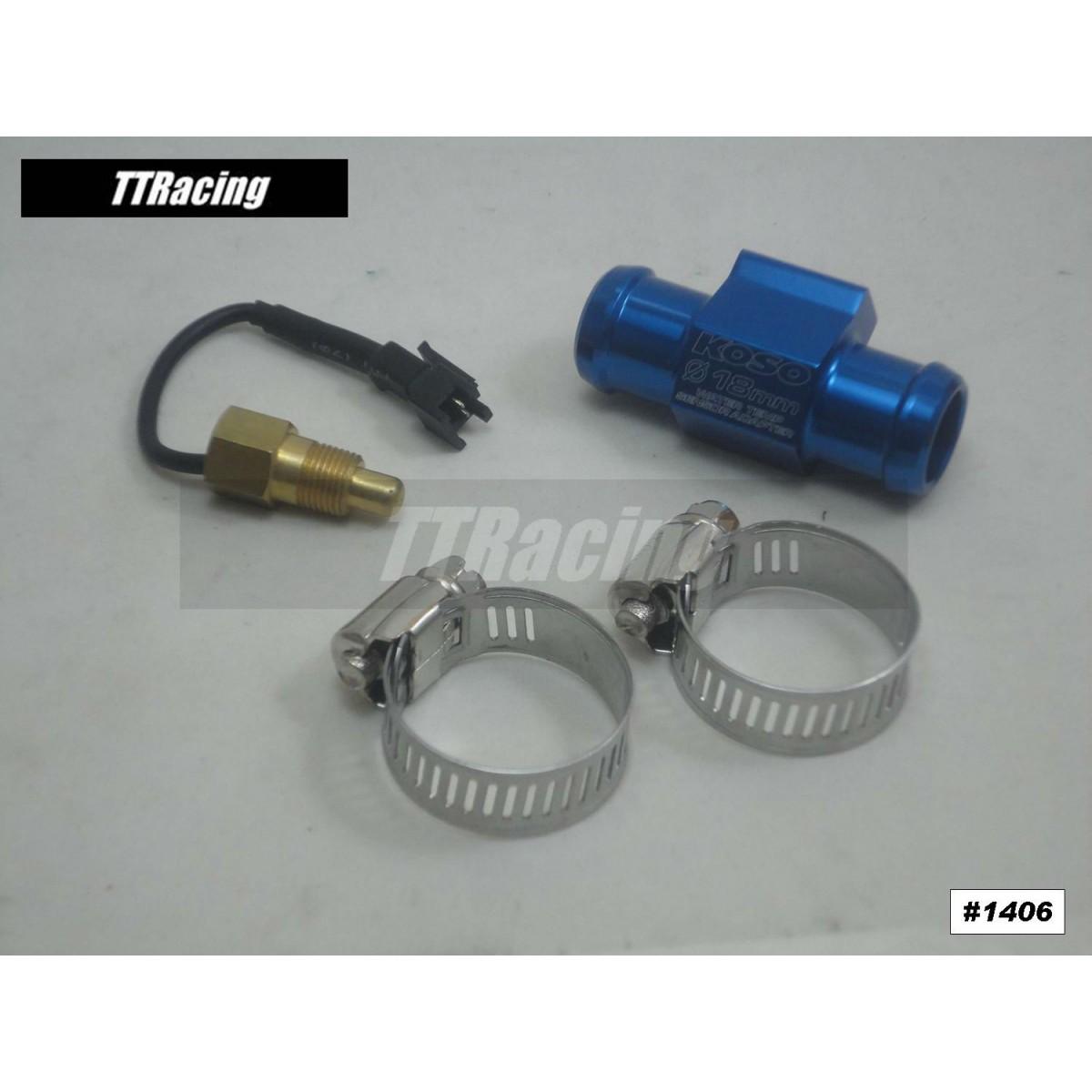 Adaptador Sensor Temperatura Koso Água Radiador 18mm  - T & T Soluções