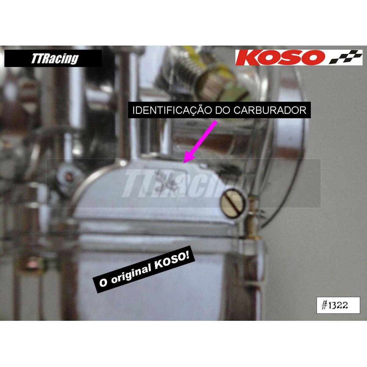 Carburador KOSO 34mm com POWER JET  - T & T Soluções