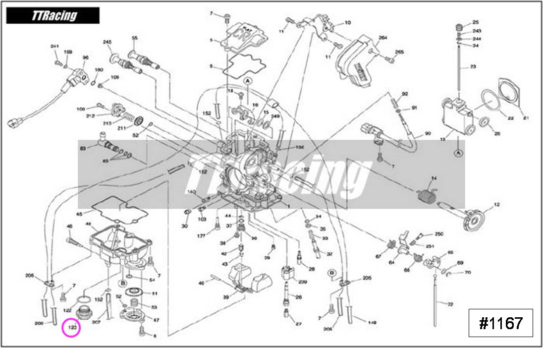 Parafuso dreno da cuba CR FLAT FCR-MX  - T & T Soluções